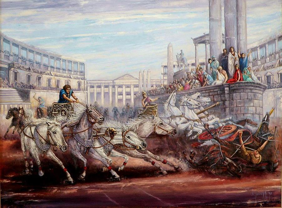 Figurative Painting - Ben Hur by I Joseph