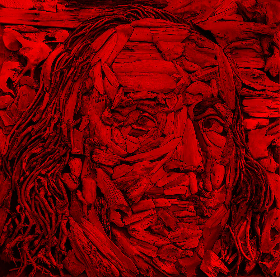 Ben Franklin Photograph - Ben In Wood Red by Rob Hans