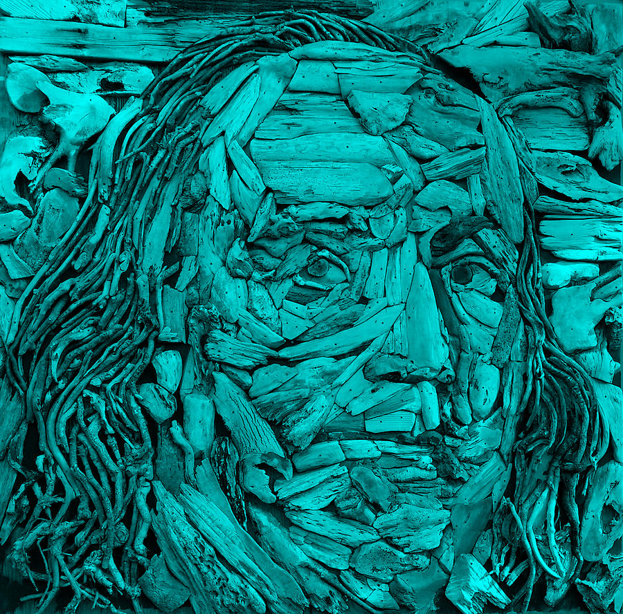 Ben Franklin Photograph - Ben In Wood Turquoise by Rob Hans