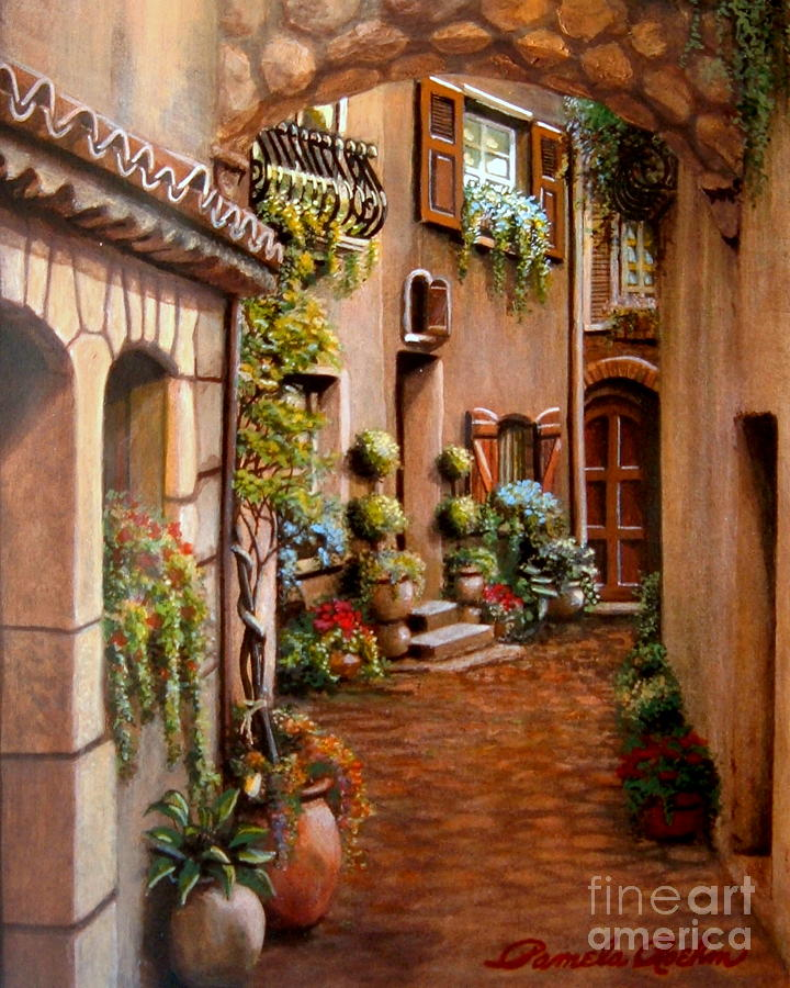 Old World Painting - Ben Nascosto by Pamela Roehm