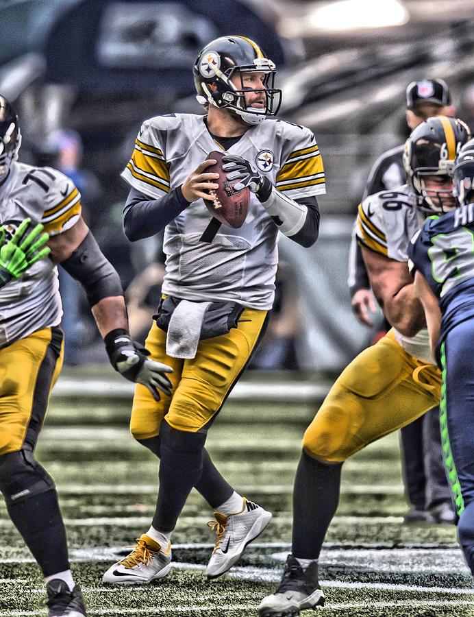 Ben Roethlisberger Painting - Ben Roethlisberger Pittsburgh Steelers Art by Joe Hamilton