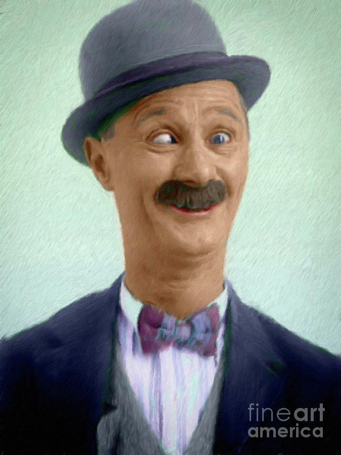Ben Turpin Vintage Comedy Actor Painting By Mary Bassett