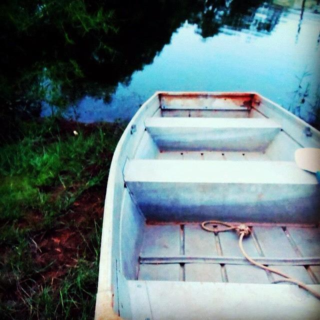 Wanderlust Photograph - Rusted Boat by Jen McKnight