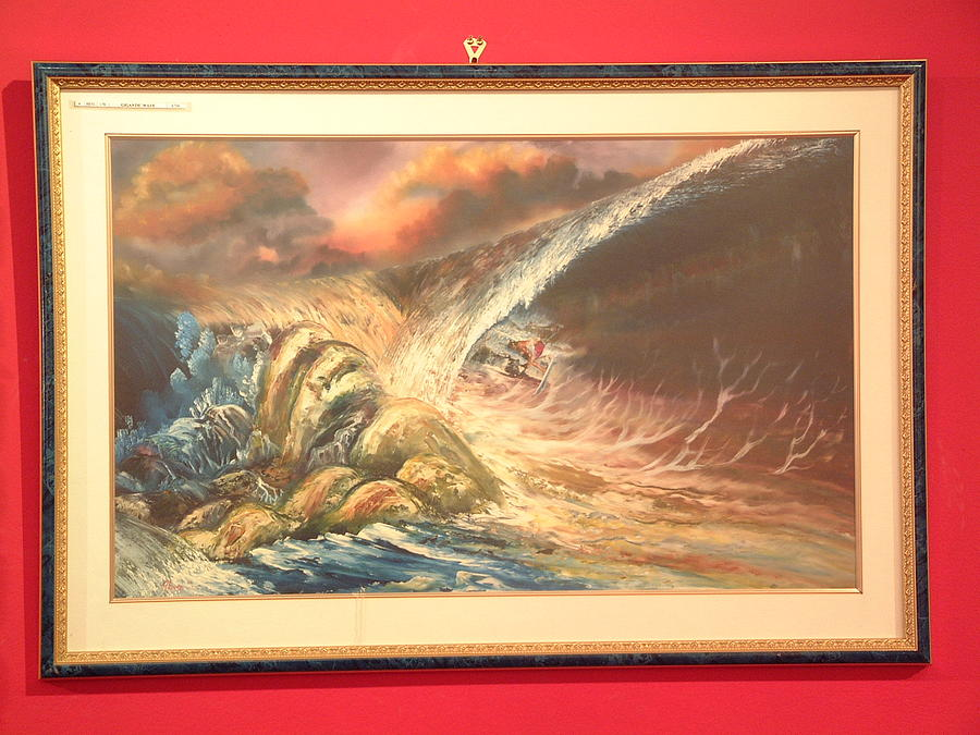 Ocean View Painting - Ben178 Gigantic Wave by Benito Alonso