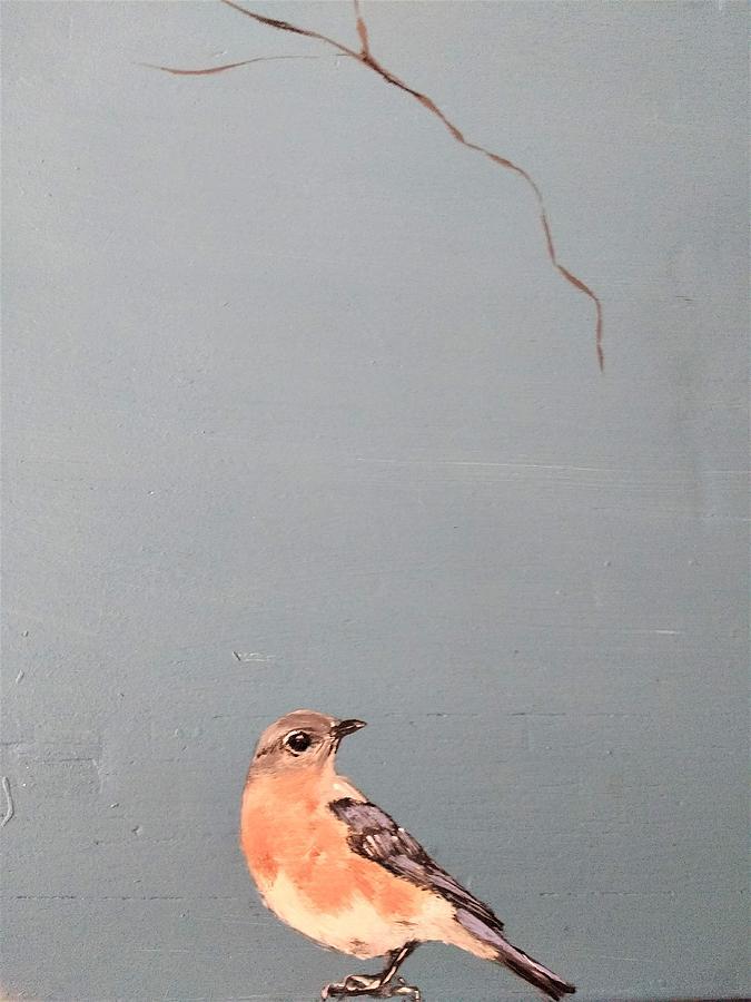 bench bird by Violet Jaffe