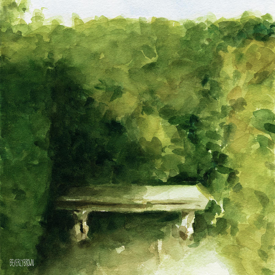 Paris Painting - Bench Parc De Bagatelle Paris by Beverly Brown