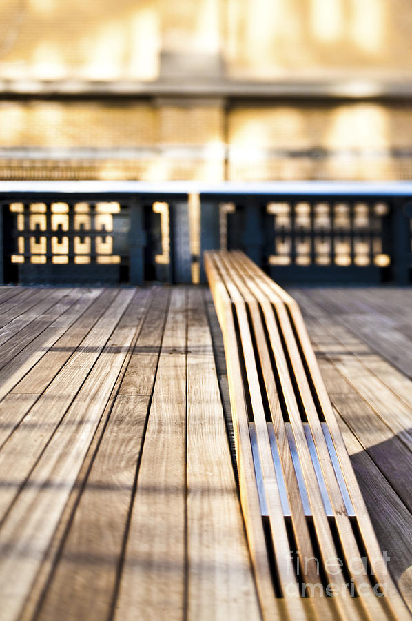 Architecture Photograph - Benches At The High Line Park by Eddy Joaquim