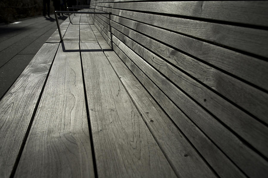 Bench Photograph - Benchs Perspective by Joanna Madloch