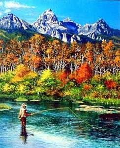 Bend In The River Painting by Al Feldstein
