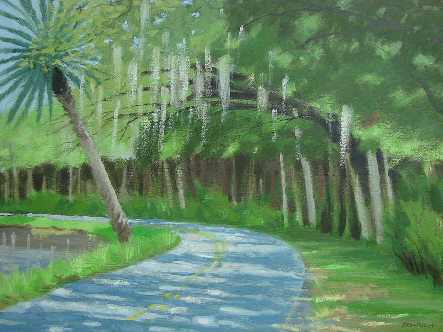 Marsh Road Painting - Bend In The Road No. 2 by Robert Rohrich