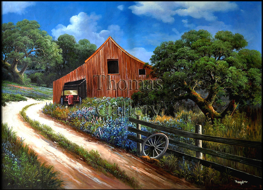 Thomas Butler Painting - Bend In The Road by Thomas Butler