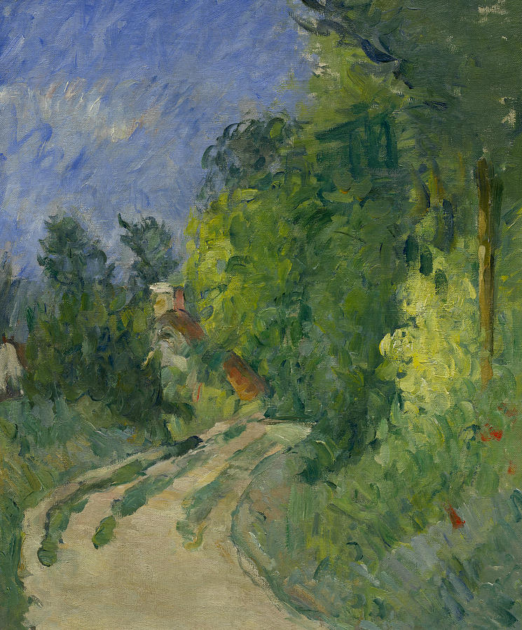 French Painters Painting - Bend In The Road Through The Forest by Paul Cezanne
