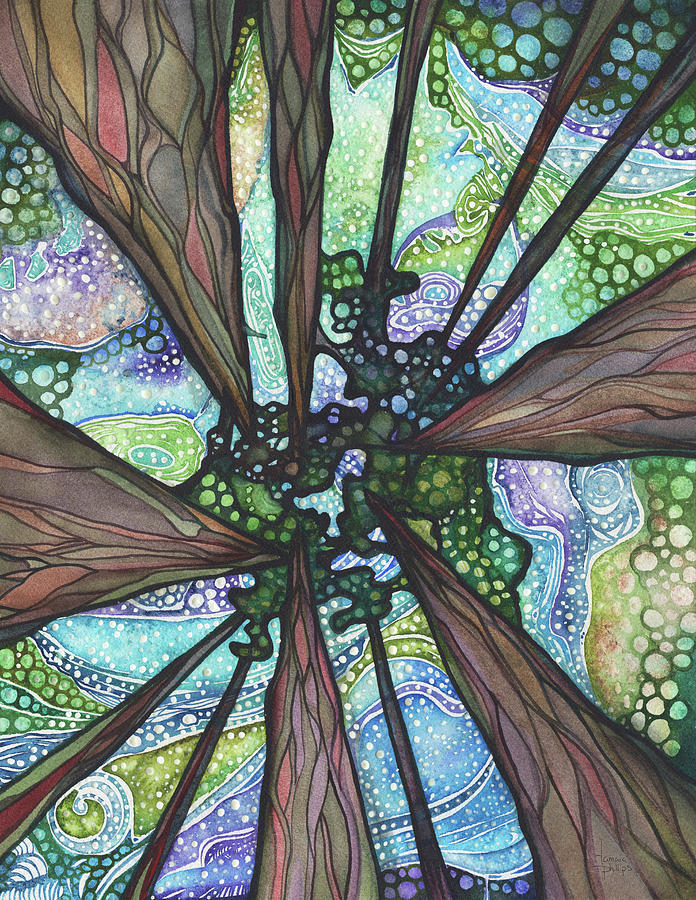 Ancient Trees Painting - Beneath Magic by Tamara Phillips