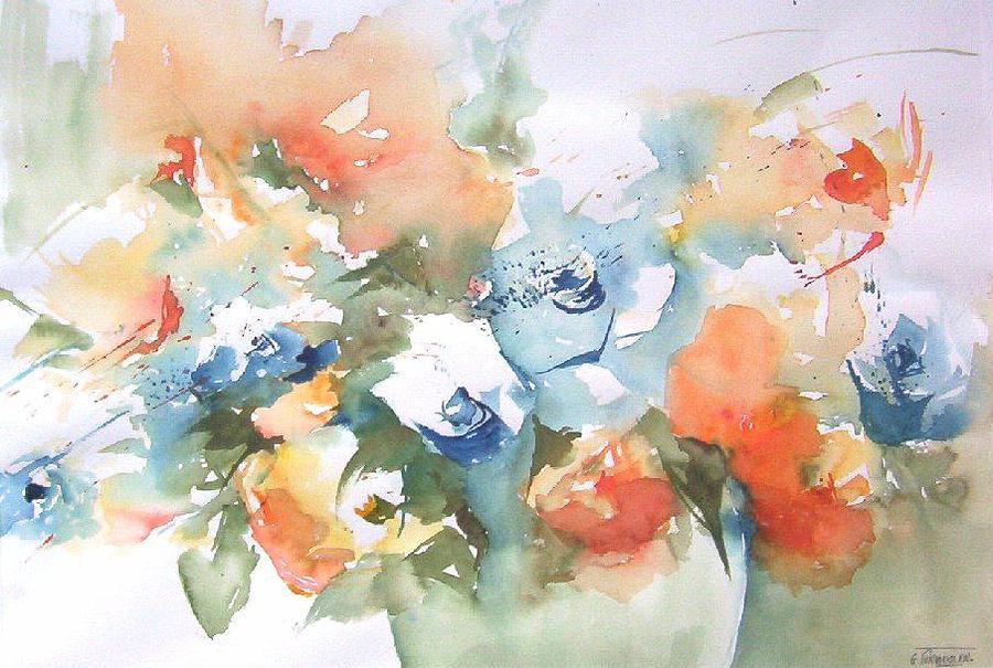 Flowers Painting - Benefit Auction by Gilberte Vermeulen