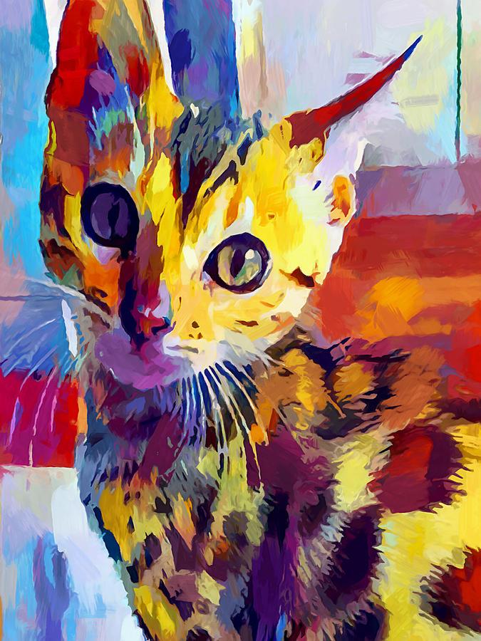 Bengal Cat Painting - Bengal Cat by Chris Butler