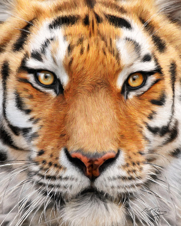 Canvas Prints Painting - Bengal Tiger by Bill Fleming