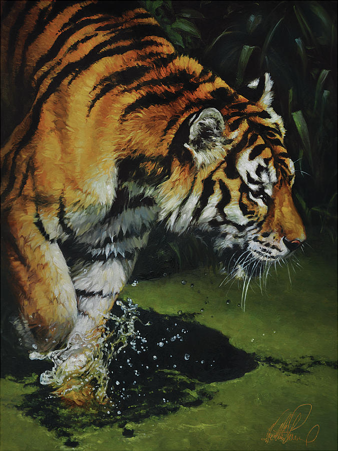 Tiger Painting - Bengal Tiger by Heather Theurer