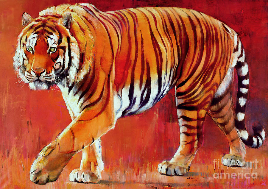 Bengal tiger painting by mark adlington for Big artwork for sale