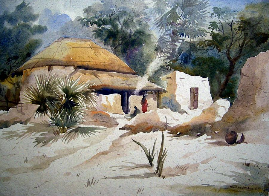Bengal Village by Samiran Sarkar