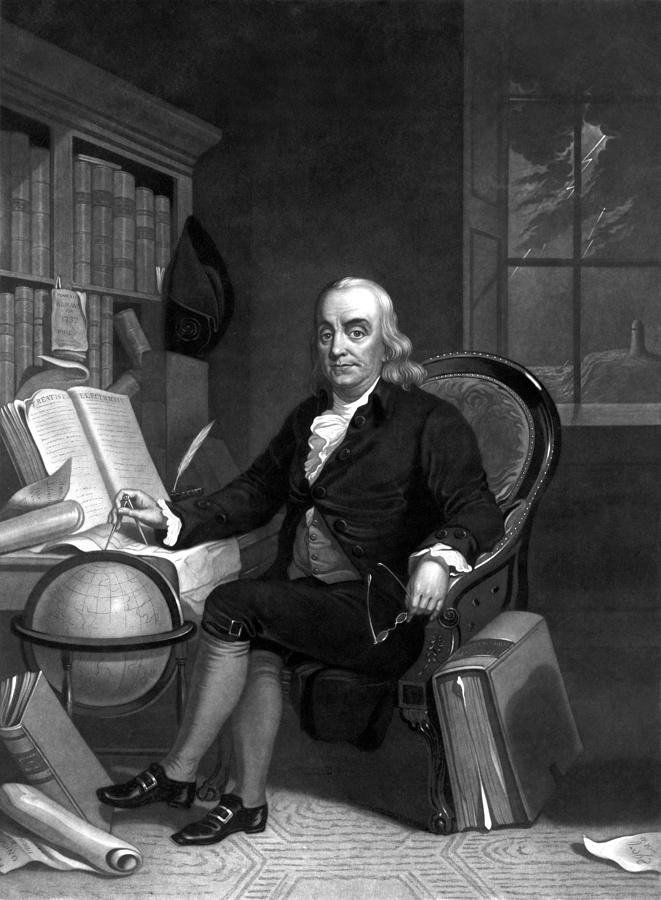 Benjamin Franklin Painting - Benjamin Franklin -- The Scientist by War Is Hell Store