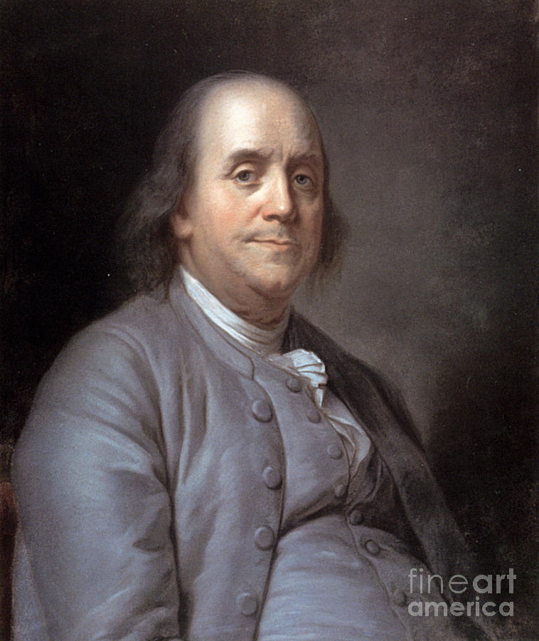 1783 Photograph - Benjamin Franklin by Granger
