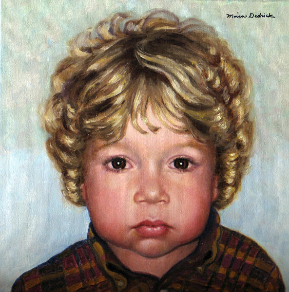 Portrait Painting - Benjamin by Moira Dedrick