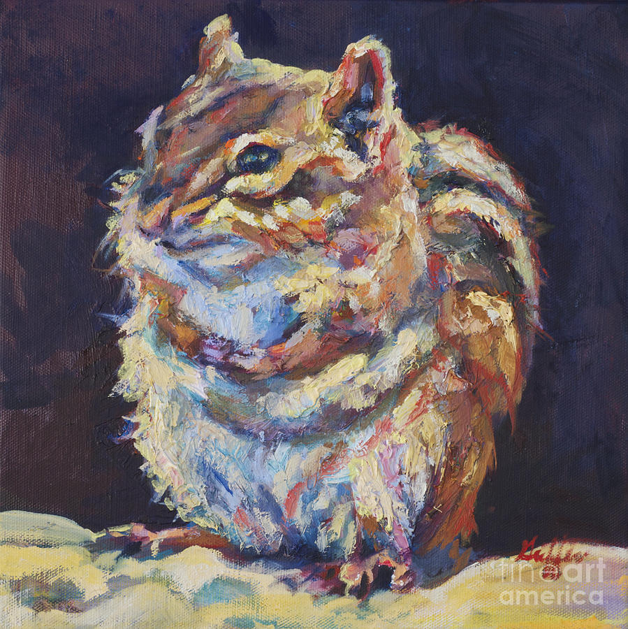 Chipmunk Painting - Benjamin by Patricia A Griffin
