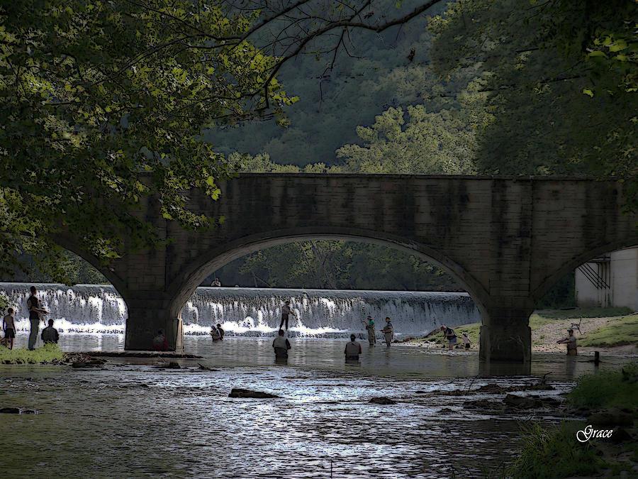 Bridge Photograph - Bennett Springs Bridge by Julie Grace