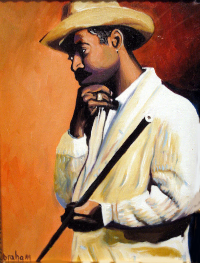 People Painting - Benny 2 by Jose Manuel Abraham