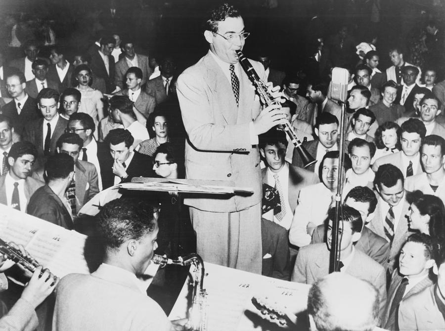 History Photograph - Benny Goodman 1909-86, Playing by Everett