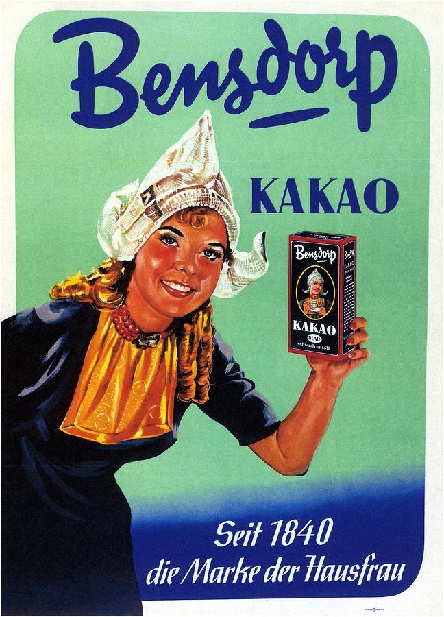 Bensdorp Kakao - Germany - Vintage Cocoa Advertising Poster Mixed Media