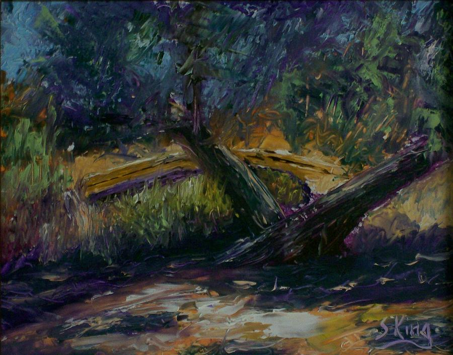 Landscape Painting - Bent Tree by Stephen King