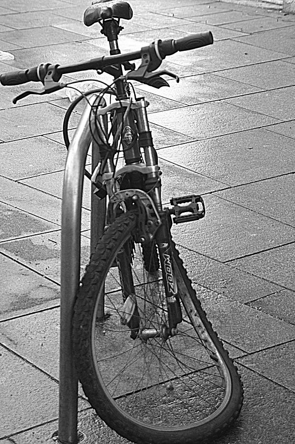 Bike Photograph - Bent Wheel by Andy Thompson