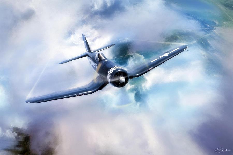 Aviation Digital Art - Bent Wing Wonder by Peter Chilelli