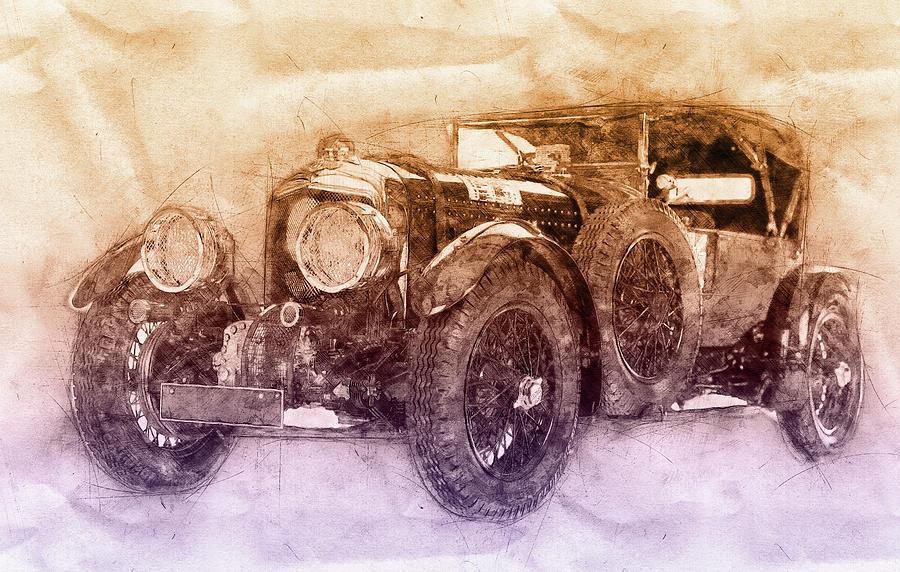 Bentley Blower No.1 - Sports Car 2 - Automotive Art - Car Posters Mixed Media
