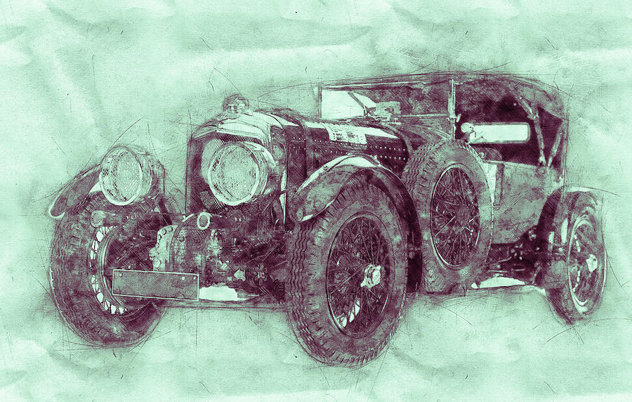 Bentley Blower No.1 - Sports Car 3 - Automotive Art - Car Posters Mixed Media