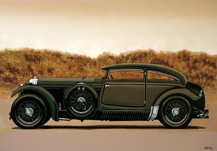 Bentley Painting - Bentley Blue Train 1930 Painting by Paul Meijering