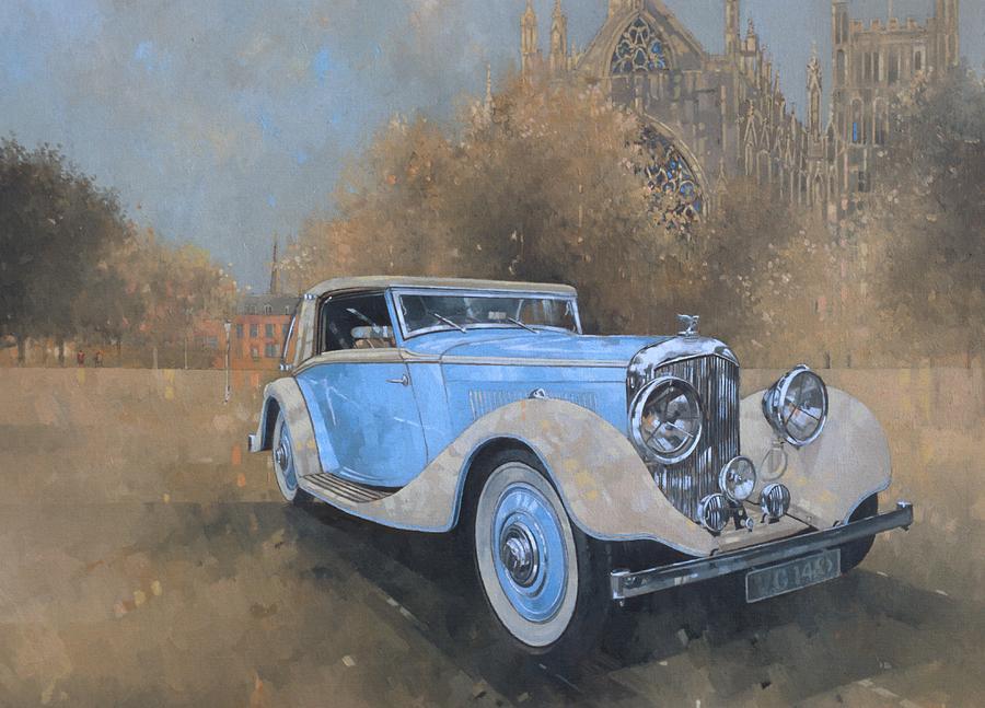 Bentley Painting - Bentley By Kellner by Peter Miller