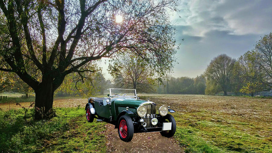 Bentley Photograph - Bentley On A Country Road by Ericamaxine Price