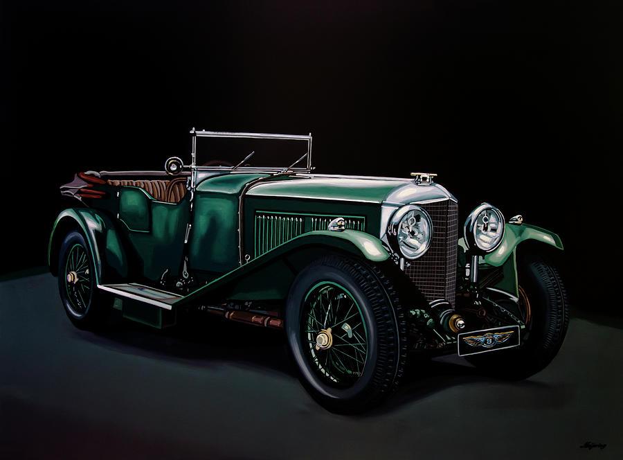 Bentley Painting - Bentley Open Tourer 1929 Painting by Paul Meijering