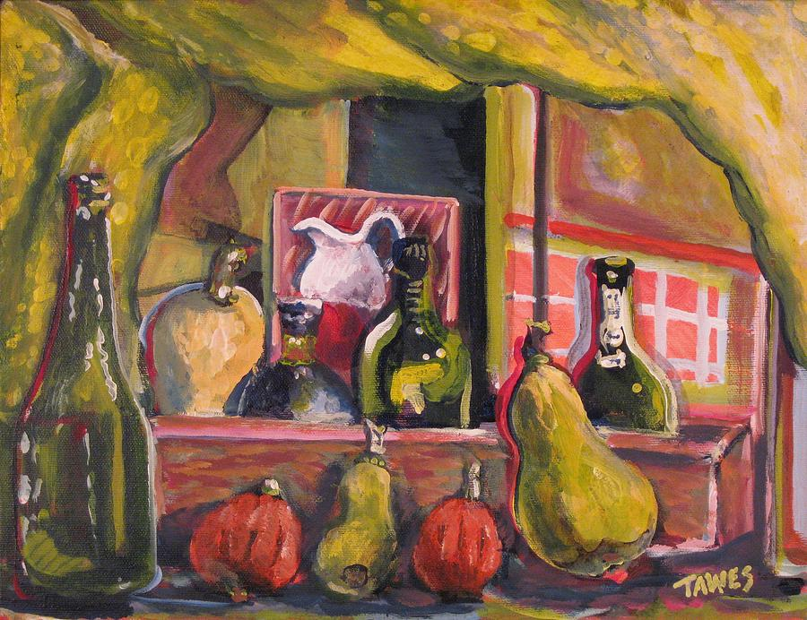 Still Life Painting - Before And After Dinner by Dennis Tawes