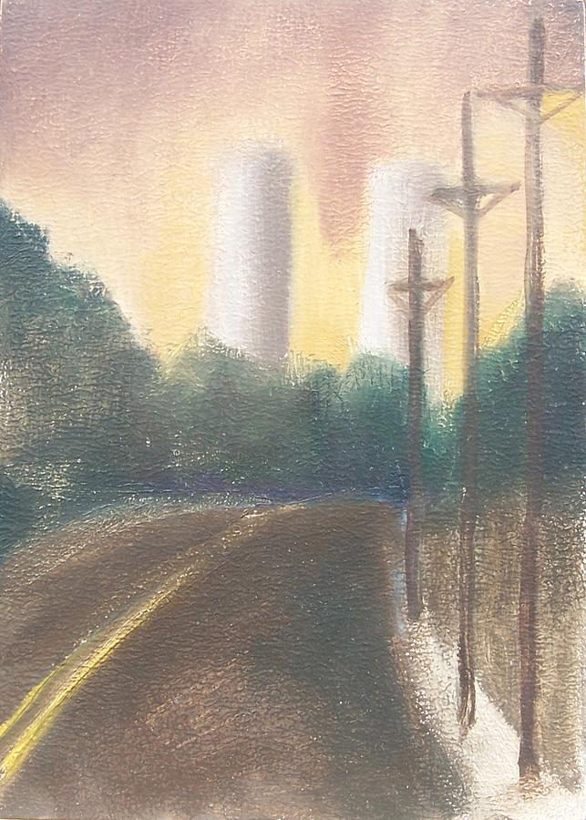 Landscape Painting - Bergen Turnpike Study by Ron Erickson
