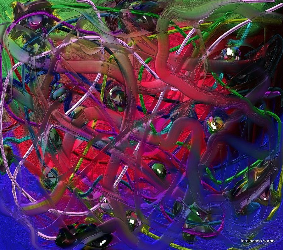 Abstract Digital Art - Bergson by Ferdinando Sorbo