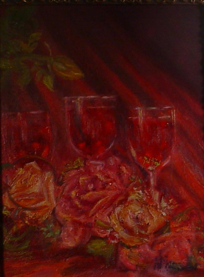 Wine And Roses Mixed Media - Beringer Cabernet Savignon by Helen Musser