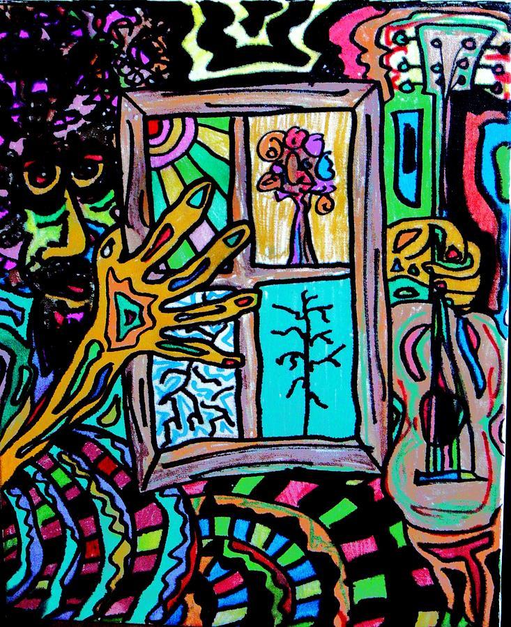 Hippie Painting - Berkeley Street Sales by Gayland Morris