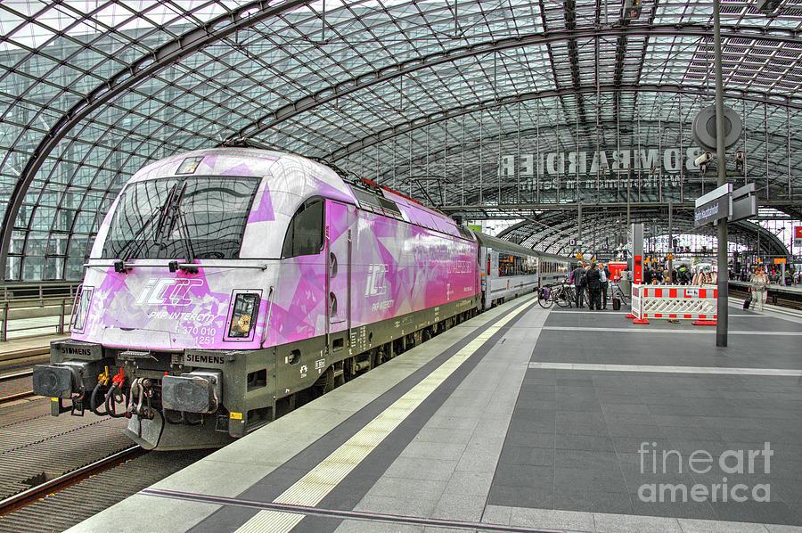 Berlin Photograph - Berlin Electric Pink  by Rob Hawkins