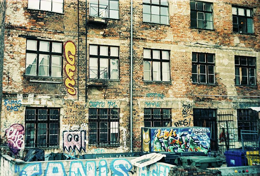 Berlin Photograph - Berlin house wall with graffiti  by Nacho Vega