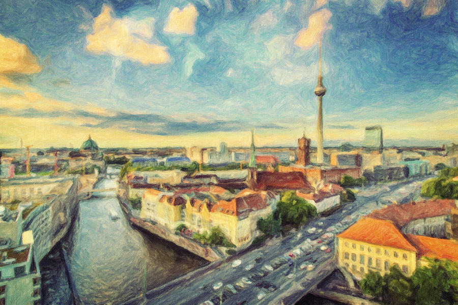 Berlin Skyline Painting