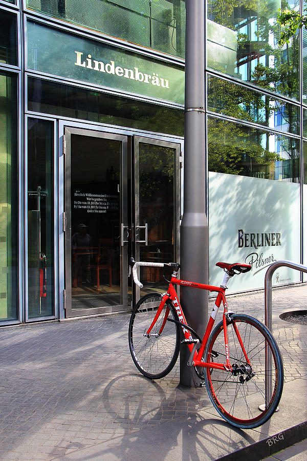 Berlin Photograph - Berlin Street View With Red Bike by Ben and Raisa Gertsberg