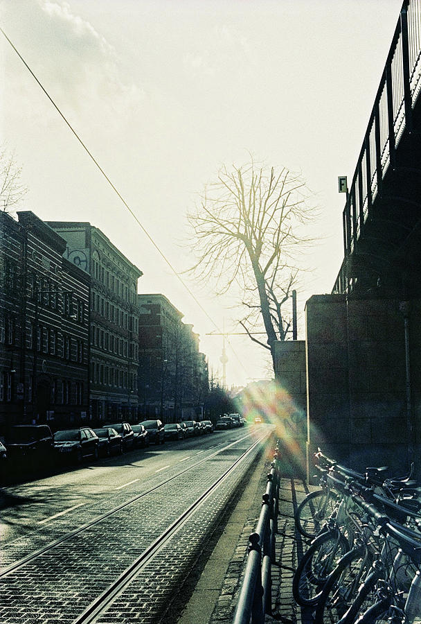 Berlin Photograph - Berlin Street With Sun by Nacho Vega
